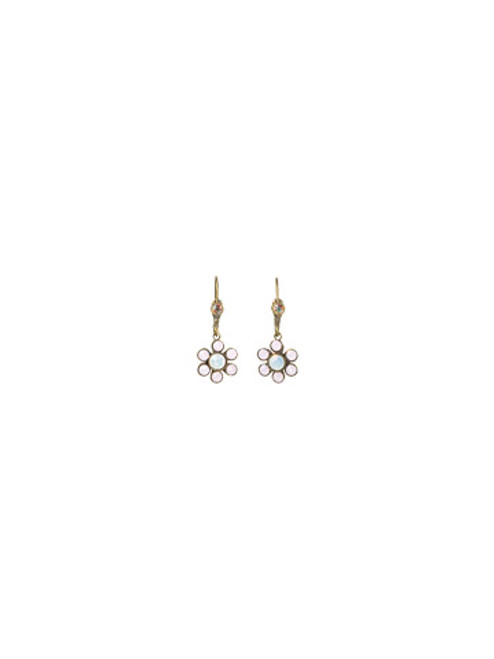 SORRELLI- PRETTY IN PINK HAPPY FLOWER DROP EARRINGS-EBJ32AGPNP