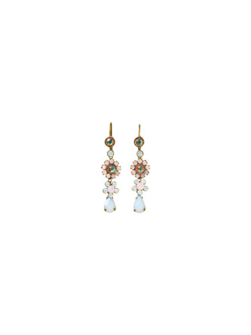 SORRELLI- PRETTY IN PINK GARDEN RAIN LINEAR DROP EARRINGS- EBP29AGPNP