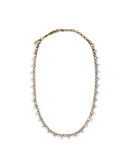 SORRELLI- PRETTY IN PINK LUXE LACE CRYSTAL NECKLACE- NAQ20AGPNP