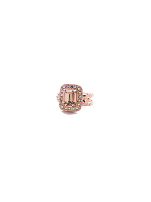 SORRELLI- LAVENDER PEACH OPULENT OCTOGON COCKTAIL RING- RDQ41RGLVP