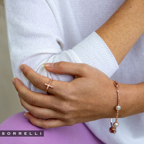 SORRELLI- LAVENDER PEACH MONIQUE BAND RING- REN1RGLVP