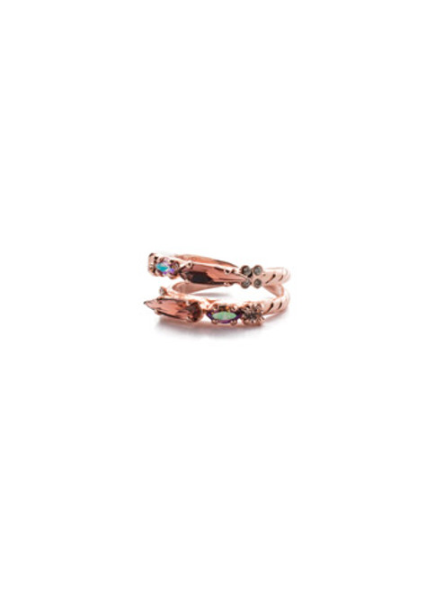 SORRELLI- LAVENDER PEACH OLEANA STACKED RING- RES18RGLVP