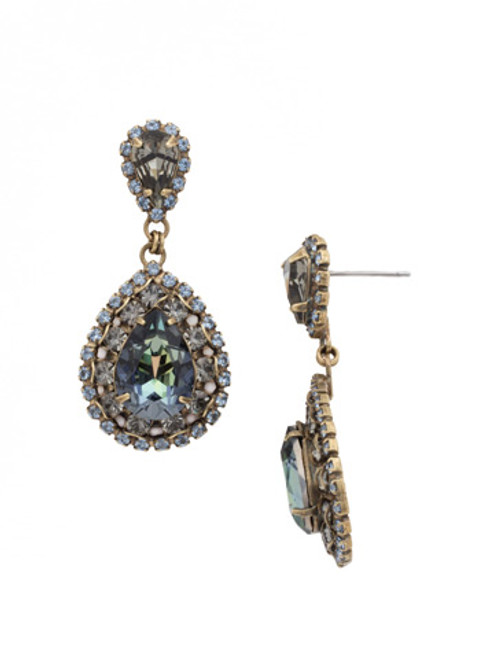*MADE TO ORDER* SORRELLI CRYSTAL PATINA OVAL ENCRUSTED CRYSTAL DANGLE EARRINGS~ECW47AGCRP