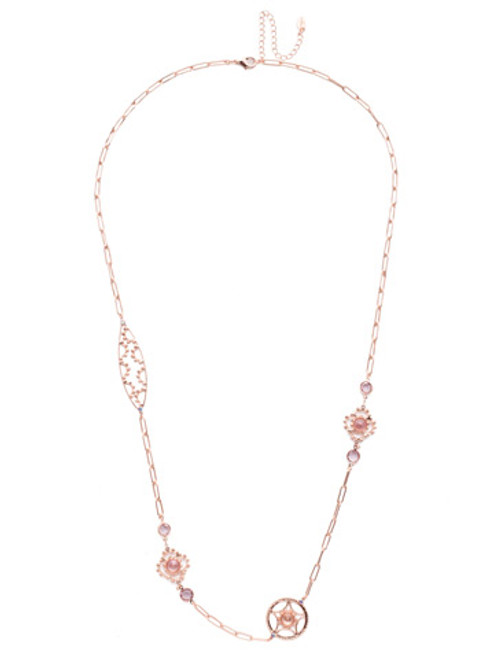 SORRELLI- LAVENDER PEACH EVERLY LONG NECKLACE- NES6RGLVP