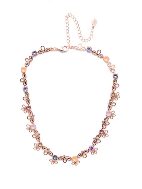 SORRELLI- LAVENDER PEACH PRUNELLA TENNIS NECKLACE- NES13RGLVP