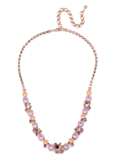 SORRELLI- LAVENDER PEACH SOPHISTICATED TENNIS NECKLACE - NDK17RGLVP