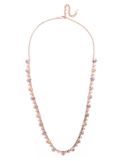 SORRELLI- LAVENDER PEACH ZAHARA LONG NECKLACE- NES14RGLVP