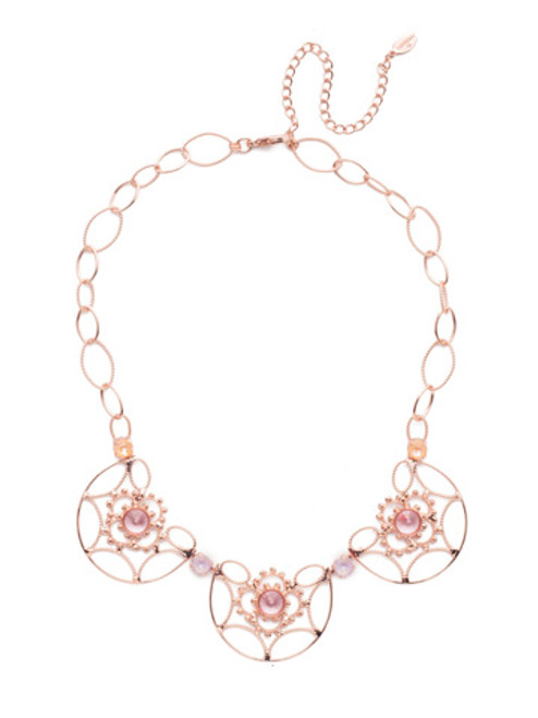 SORRELLI- LAVENDER PEACH ARIYA STATEMENT NECKLACE- NES7RGLVP