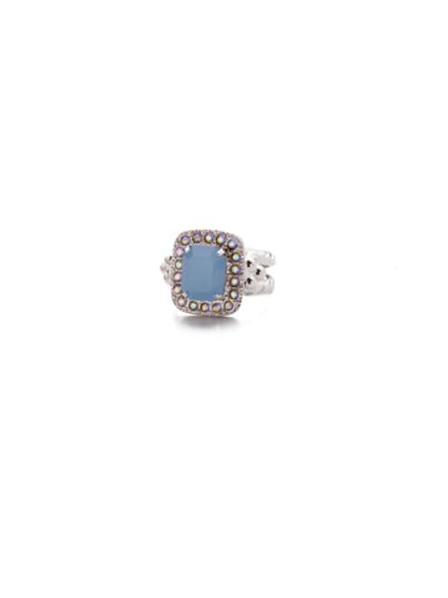 SORRELLI- NANTUCKET BLUE OPULENT OCTAGON COCKTAIL RING- RDQ41RHNTB