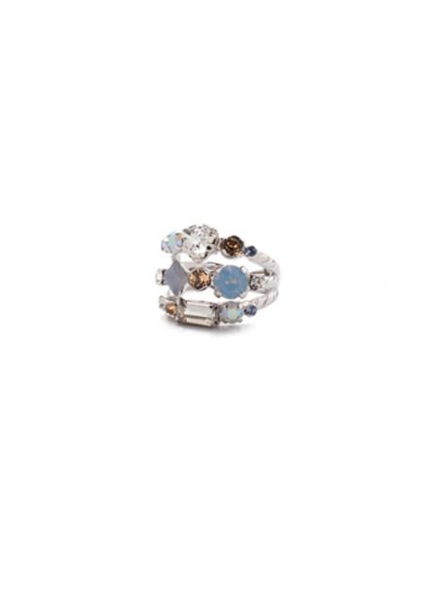 SORRELLI- NANTUCKET BLUE SEDGE STACKED RING- RDX1RHNTB
