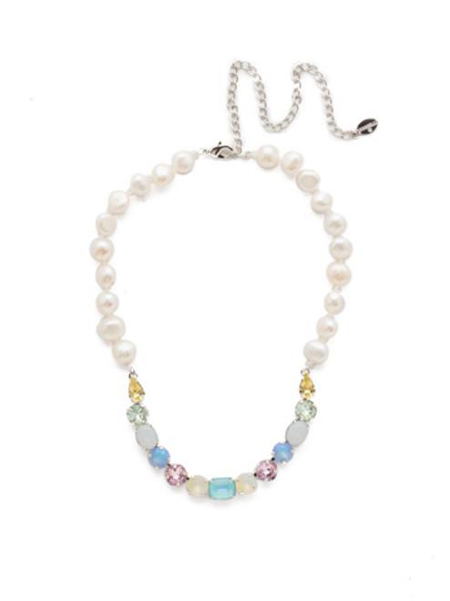 Sorrelli Seersucker Cadenza Crystal Tennis Necklace~NEC14RHSSU