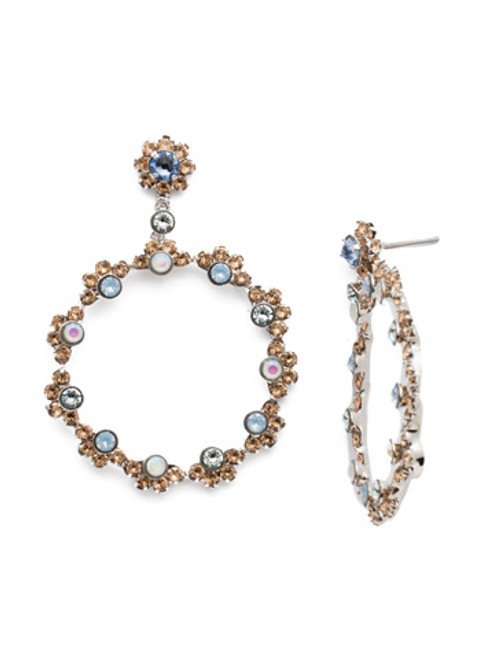 SORRELLI- NANTUCKET BLUE CIRQUE STATEMENT EARRINGS- EBP50RHNTB