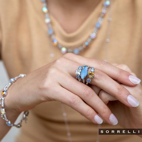 SORRELLI- NANTUCKET BLUE MURIEL TENNIS BRACELET- BES20RHNTB