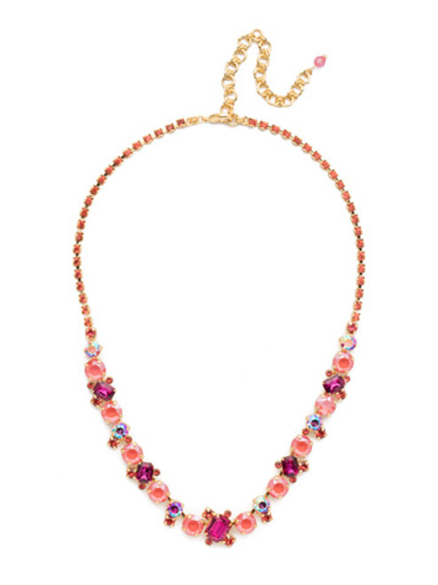 SORRELLI- BEGONIA SOPHISTICATED TENNIS NECKLACE- NDK17BGBGA