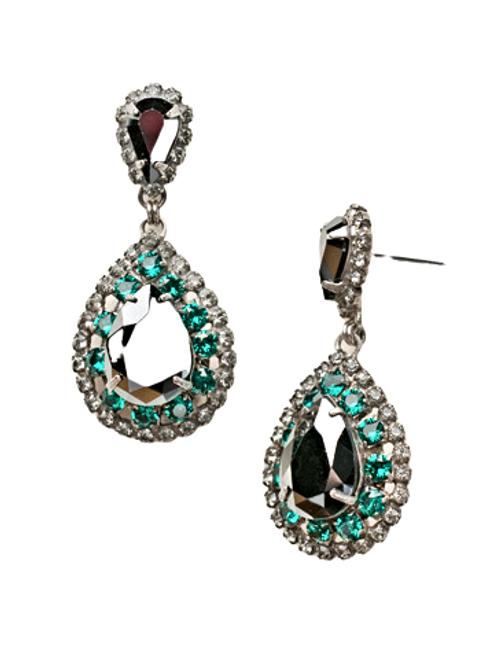 Sorrelli Viridesence Oval Crystal Dangle Earrings~ ECW47ASVR