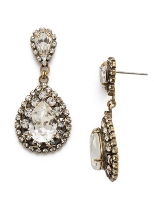 Sorrelli Oval Crystal Dangle Earrings~ ECW47AGCRY