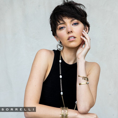 Sorrelli Modern Pearl Twila Cuff Bracelet~4BES8AGMDP