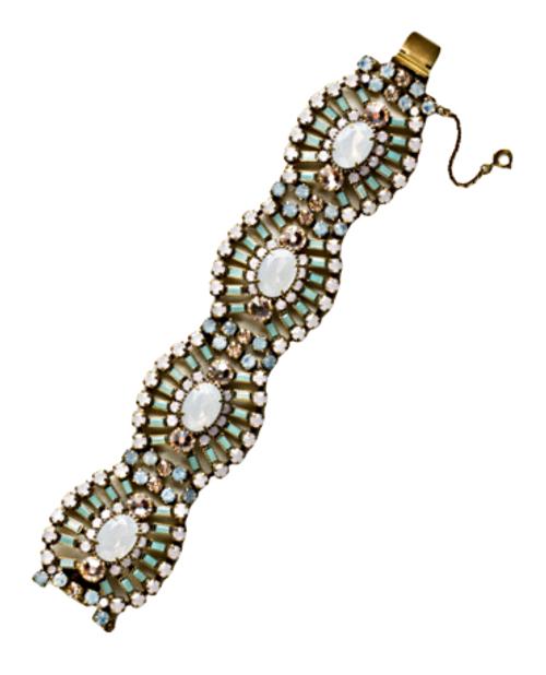 Sorrelli Rose Water Gleaming Oval Crystal Layered Bracelet~ BBZ48AGROW