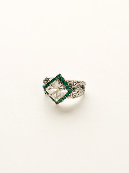 Sorrelli- Viridescence Perfectly Pointed Ring- RCP9ASVR