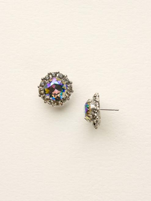 Sorrelli- Viridescence Crystal Border Stud Earrings- ECG35ASVR