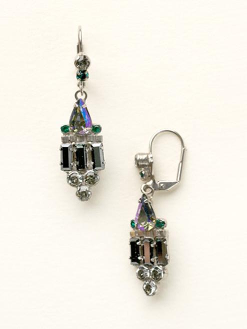 Sorrelli- Viridescence Deco Inspired Crystal Earrings-ECW48ASVR