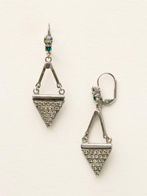 Sorrelli- Viridescence Crystal Triangle Drop Earrings- ECW12ASVR
