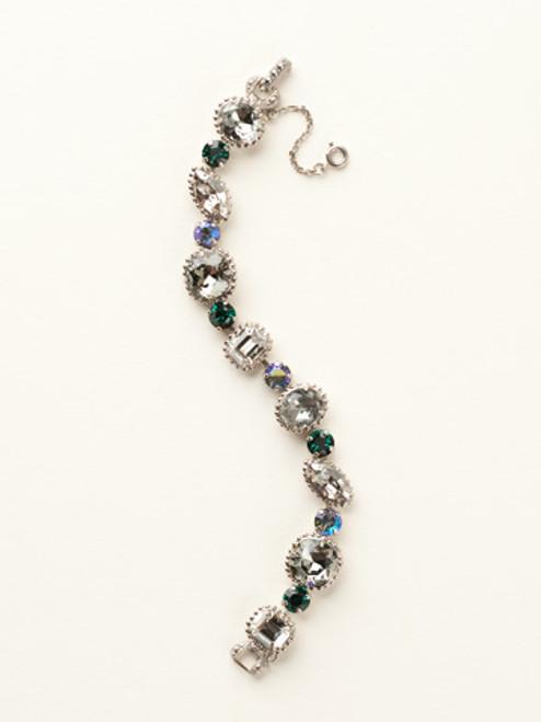 Sorrelli- Viridescence Cushion Cut Crystal Bracelet-BBX10ASVR