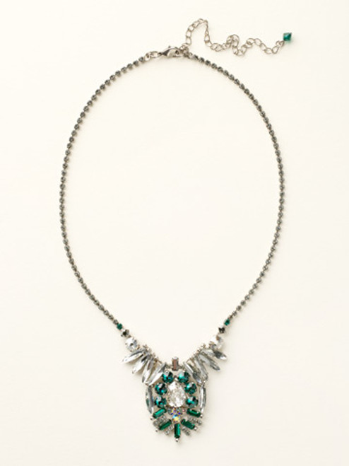 Sorrelli- Viridescence Dazzling Deco Crystal Statement Pendant Necklace- NCR10ASVR