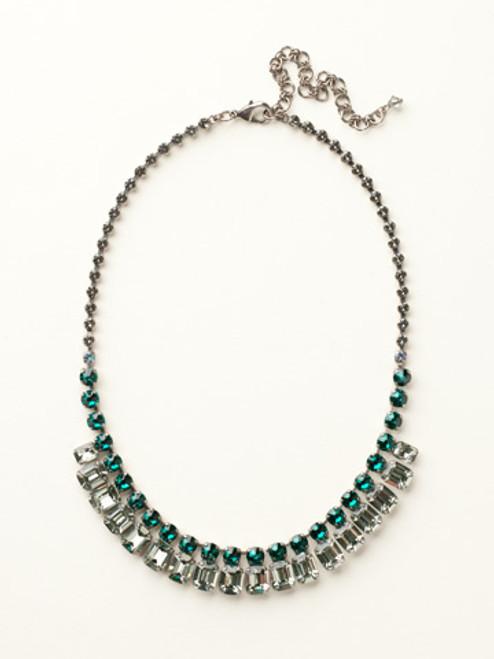 Sorrelli- Viridescence Crystal Octagon Classic Necklace- NCW7ASVR