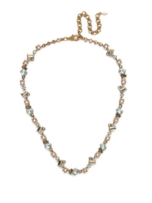 SORRELLI~WASHED PASTEL Kalmia Crystal Necklace- NDS17AGWP