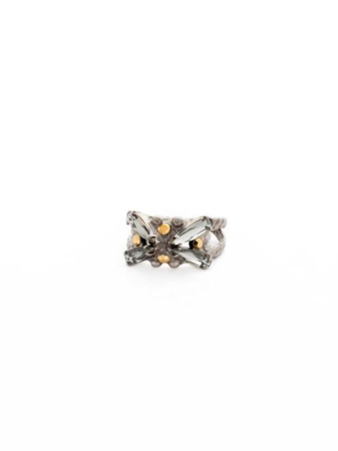Sorrelli Gold Vermeil Crystal Ring~ RDH11ASGV