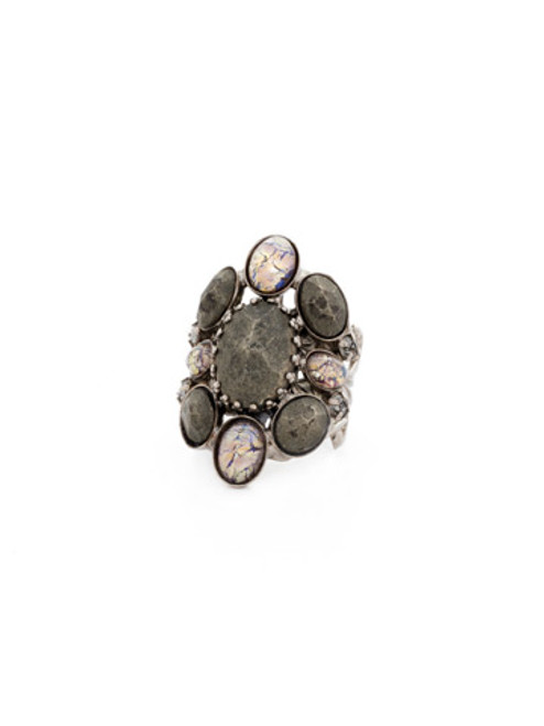 Sorrelli Gold Vermeil Oval Semi Precious Ring~ RDE2ASGV