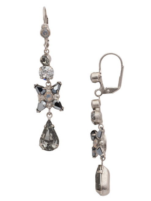 Sorrelli Gold Vermeil Delicate Flower Crystal Drop Earrings- ECR30ASGV