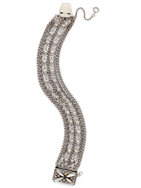 Sorrelli Gold Vermeil Embellished Clasp Bracelet- BDH11ASGV