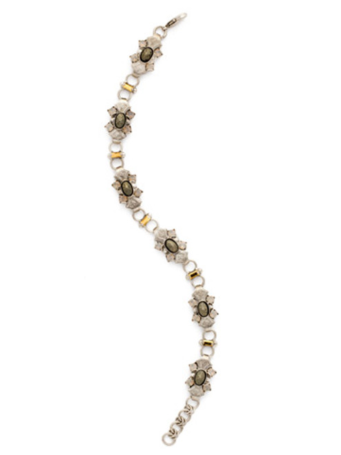 Sorrelli Gold Vermeil Ornamental Ovals Bracelet- BDH9ASGV