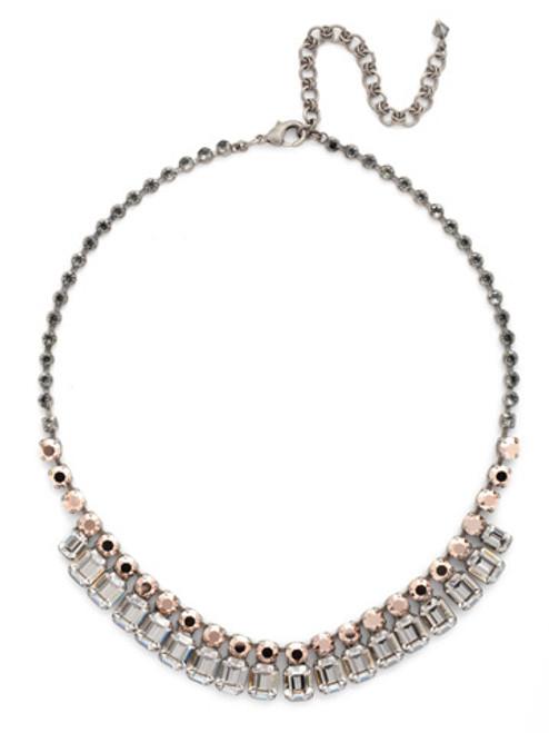 Sorrelli Gold Vermeil Crystal Octagon Classic Necklace- NCW7ASGV