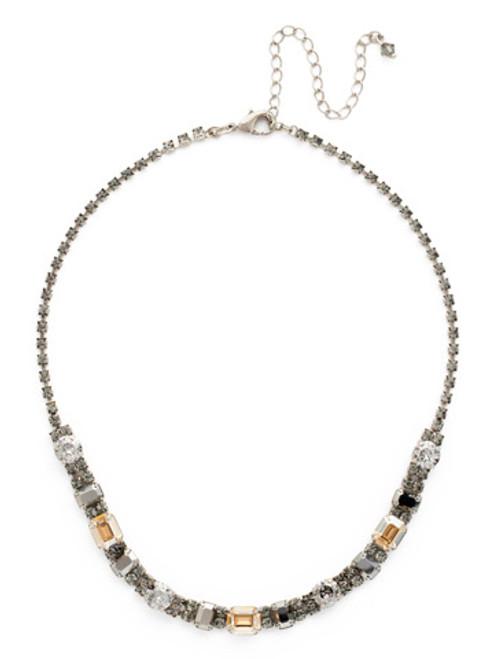 Sorrelli Gold Vermeil Crystal Cosmos Necklace- NDH14ASGV