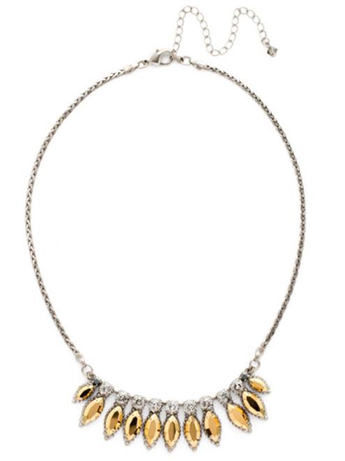 Sorrelli Gold Vermeil Navette Fringe Necklace- NDG1ASGV