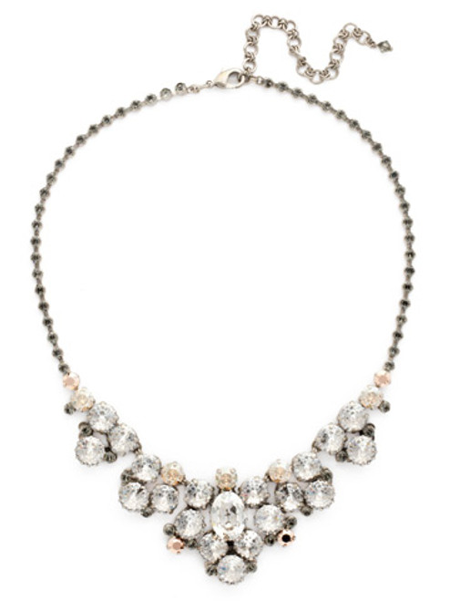 Sorrelli Gold Vermeil Crystal Bib Necklace- NDH24ASGV