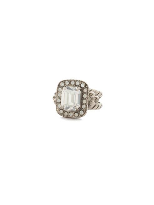 Sorrelli Crystal Lace- Opulent Octagon Ring~ RDQ41ASCLA