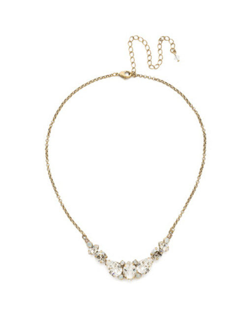 CRYSTAL LACE CRYSANTHEMUM STATEMENT NECKLACE BY SORRELLI~NDN4AGCLA