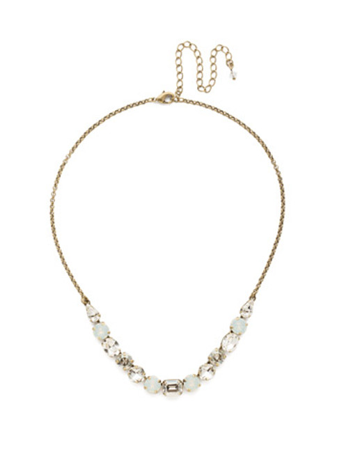 CRYSTAL LACE TANSY HALF LINE CRYSTAL TENNIS NECKLACE BY SORRELLI~NDQ14AGCLA