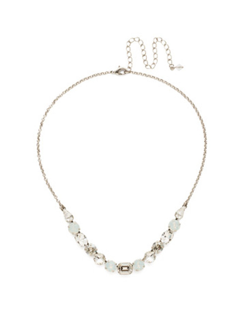 CRYSTAL LACE TANSY HALF LINE CRYSTAL TENNIS NECKLACE BY SORRELLI~NDQ14ASCLA