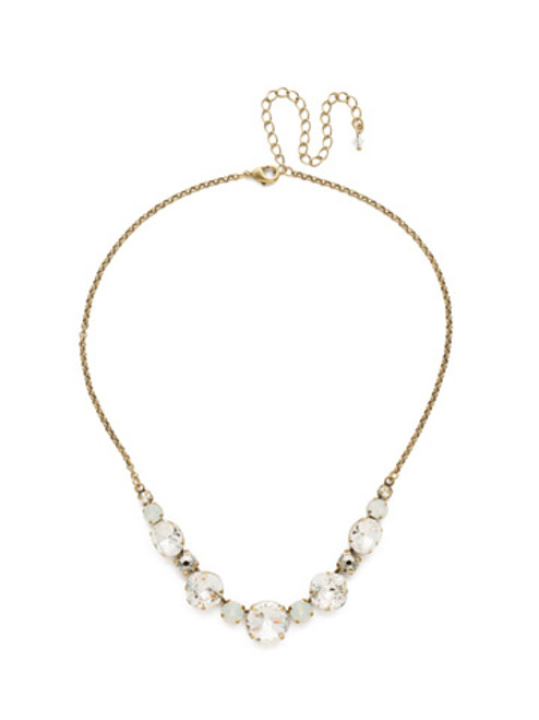 CRYSTAL LACE HALF C IRCLE CRYSTAL TENNIS NECKLACE BY SORRELLI~NDQ51AGCLA