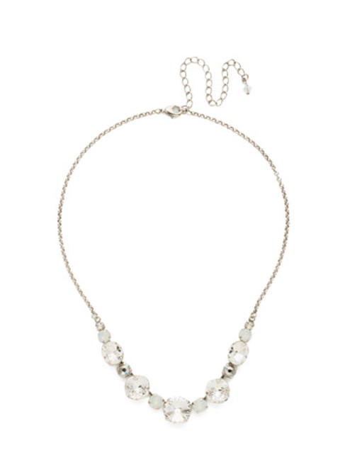 CRYSTAL LACE HALF CIRCLE CRYSTAL TENNIS NECKLACE BY SORRELLI~NDQ51ASCLA