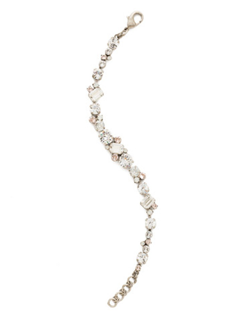 CRYSTAL LACE GEO CLASSIC CRYSTAL TENNIS BRACELET BY SORRELLI~BDG46ASCLA