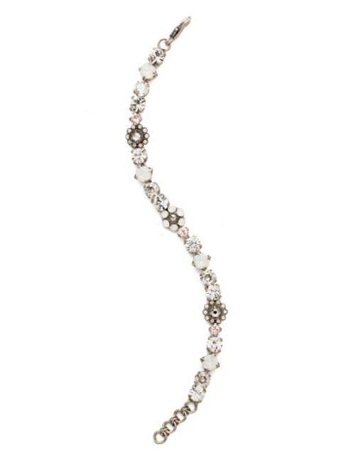 CRYSTAL LACE CLASSIC FLORAL CRYSTAL TENNIS BRACELET BY SORRELLI~BBE2AGCLA