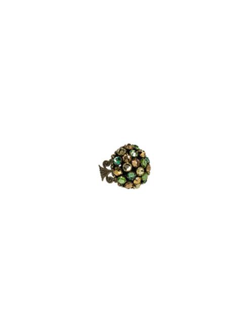Sorrelli- Water Lily- Multi- Crystal Dome Ring- RCC6AGWL