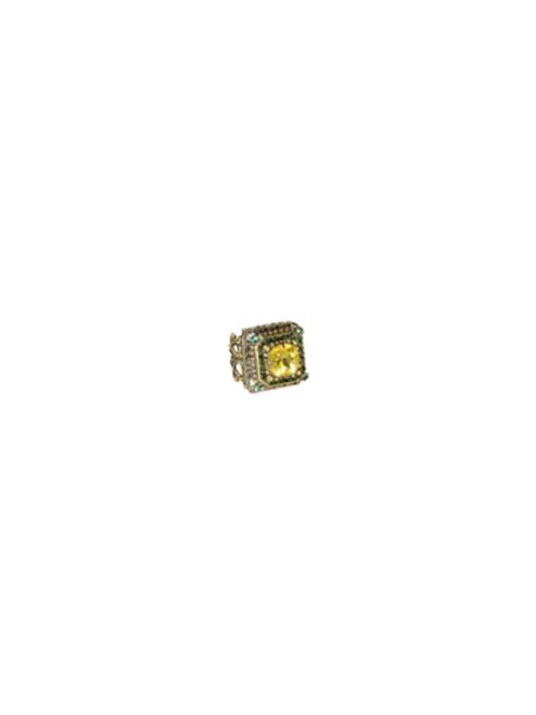Sorrelli- Water Lily- Pyramid Crystal Ring- RCG9AGWL