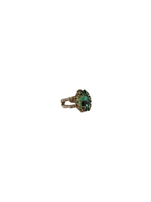 Sorrelli- Water Lily- Heirloom Oval Cut Ring- RCF8AGWL